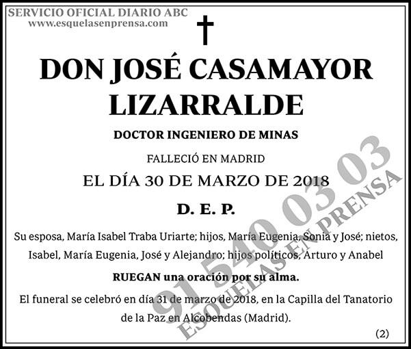 José Casamayor Lizarralde